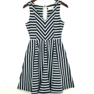 Anthropologie Saturday Sunday Striped Flare Dress
